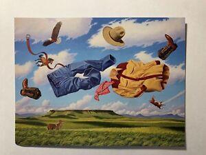 "LOT 6 NEW Leanin' Tree THANK YOU Cards TKG6640 ""West Wind"" Cowboy western plains"