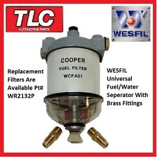 WCFA01 CAV296 Universal & Marine Fuel Water Seperator Filter With Fittings