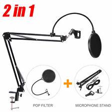 Mic Microphone Stand Suspension Boom Scissor Arm Holder Studio Broadcast UK