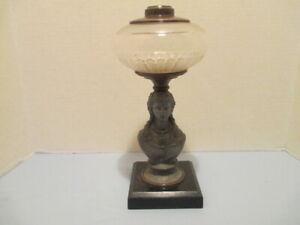 Figural Stem Kerosene or Oil Lamp by Miller Co