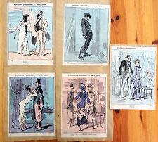 Alfred GREVIN Petit Journal Pour Rire Lithographie XIXe Fantaisies Parisiennes 8