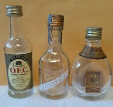 Vintage OLD FITZGERALD, CANADIAN O.F.C., and PINCH Miniature Whiskey bottles