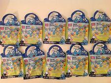 10 Mega Bloks The Smurfs Random Mini Figures Blister Packs New Unopened 10757