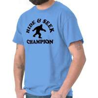 Hide And Seek Champion Bigfoot Sasquatch Short Sleeve T-Shirt Tees Tshirts