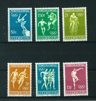 Luxembourg 1968 Olympic Games full set of stamps. Mint. Sg 815-820.