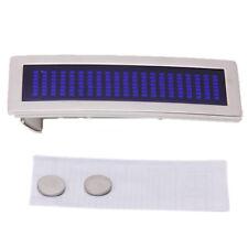DIY Blue Chrome Flashlight Scrolling LED Belt Buckle I2I9