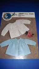 Peter Pan 4 ply Baby Matinee Coats Crochet & Knitting Pattern P326