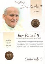 ■■■ Poland 2011 2 Zlote Pope JOHN PAUL II SANTO SUBITO Beatific Blister UNC ■■■