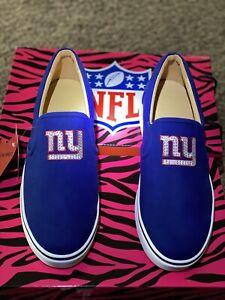 REDUCED PRICE : Ladies Blue New York Giants Slip On Sneakers