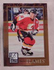 1997-98 Donruss Elite Theo Fleury Calgary Flames Hockey Card #74 mint