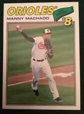 2018 Topps Throwback Thursday Manny Machado #104 Baltimore Orioles 1977 Design