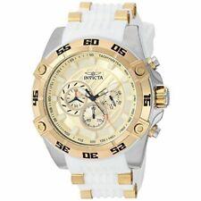 Invicta Speedway 25510 Men's Round Analog Chronograph White Silicone Watch