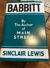 First Edition Library Book With DJ Babbitt Sinclair Lewis (Facsimile)