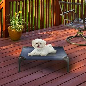 """Elevated Pet Bed-Portable Raised Cot-Style Bed W/ Non-Slip Feet 24.5""""x 18.5""""x..."""