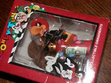 Looney Tunes Daffy Duck Fireman Fire Extinguisher, Christmas Ornament, Nos