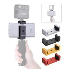 Cell Phone Clip Clamp Holder Hot Cold Shoe Flash Bracket Tripod Mount Adapter