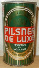 PILSENER DE LUXE Straight Steel Beer can from HOLLAND (34cl) Green