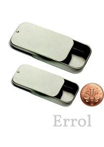 Small Tin. Two Sizes Micro or Mini - 10ml or 20ml Capacity Sliding Lid UK SELLER