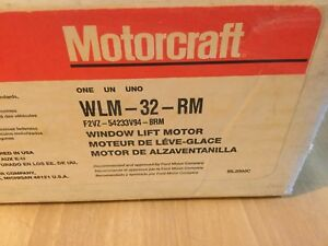 Motorcraft Power Window Motor Rear Right, Front Left WLM-32-RM