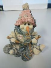 "Boyds Bears & Friends ""Pearl Too"".The Knitter Figurine No Box See Scans"