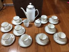 HUTSCHENREUTHER CM150 Germany China Teapot sugar creamer cups saucers