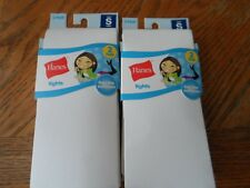 Hanes Girls Tights 4 Pairs Small White 71151