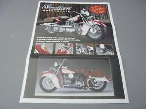 ONE PAGE FLIER-(NO BIKE)-1/10-FRANKLIN MINT-INDIAN 442 MOTORCYCLE-RED/WHITE