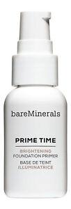 Bareminerals Prime Time Brightening Foundation Primer for Face 1 fl oz. New