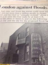 ephemera 1970 Folded Article Protecting London Against The Floods M47