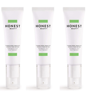 Lot of 3 Honest Beauty Clearing Night Serum Pure Retinol Acne Treatment 1oz