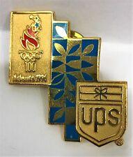UPS SHIELD ATLANTA OLYMPIC GAMES 1996 PIN COLLECT #905