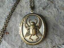 EGYPTIAN SCARAB (BEETLE) LOCKET -  ANTIQUE, QUALITY, UNIQUE - EGYPT - INSECT