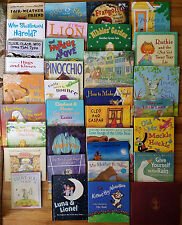 Lot of 34 Children's Hardcover Story Picture Books
