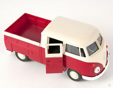 BLITZ VERSAND VW T1 Double Cabin Pick Up rot Welly Modell Auto 1:34 NEU & OVP