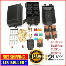 New listing Universal 12V 80A 6 Way Fuse Box Block Relay Insurance Holder Kit for Car Trunk