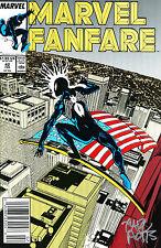 MARVEL FANFARE #42 AMAZING SPIDER-MAN BLACK SUIT SIGNED CARL POTTS