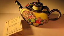 "Minature Handcrafted & Painted Tea Pot by ""Kevin Chen"" Certificate Authenticity"
