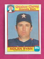 RARE 1986 ASTROS NOLAN RYAN QUAKER CHEWY GRANOLA BARS NRMT+ CARD (INV# C0611)