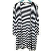 ESCADA MARGARETHA LEY Cardigan ∙ Size 40 US 10 ∙ Long Striped Open Front