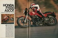 1982 Honda FT500 Ascot - 5-Page Vintage Motorcycle Road Test Article