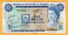 Bermuda 1 Dollar Replacement VF 1976 P-28a* Z/1 Prefix QEII Banknote
