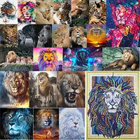 Running Lion 5D DIY Diamond Painting Embroidery Needlework Cross Stitch Art Gift