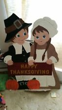 Thanksgiving pilgrims Yard Art; Lawn Ornament