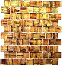 Glasmosaik Struktur braun mix klar/gefrostet Fliesenspiegel Art:78-CF45 10Matten