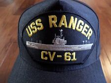USS RANGER CV-61 NAVY SHIP HAT U.S MILITARY OFFICIAL BALL CAP U.S.A MADE