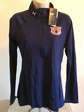 Auburn Tigers Under Armour NCAAWomens 1/2 Zip Pullover S Navy NWT