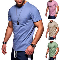 Jack & Jones Herren T-Shirt Basic Shirt Herrenshirt Kurzarmshirt Unifarben