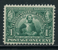 SCOTT 328 1907 1 CENT JAMESTOWN EXPOSITION ISSUE MNH OG VF CAT $65!