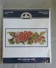 Red Flowering Gum Cross stitch Kit by Helene Wild for DMC 35 x 13cm 16ct Aida