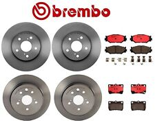 For Lexus IS250 '06-'09 Front and Rear Brake Kit Disc Rotors Ceramic Pads Brembo